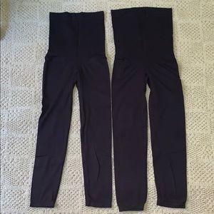 EUC black maternity leggings size medium